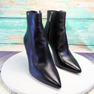 Michael Kors Dorothy  Black Leather Ankle Boots